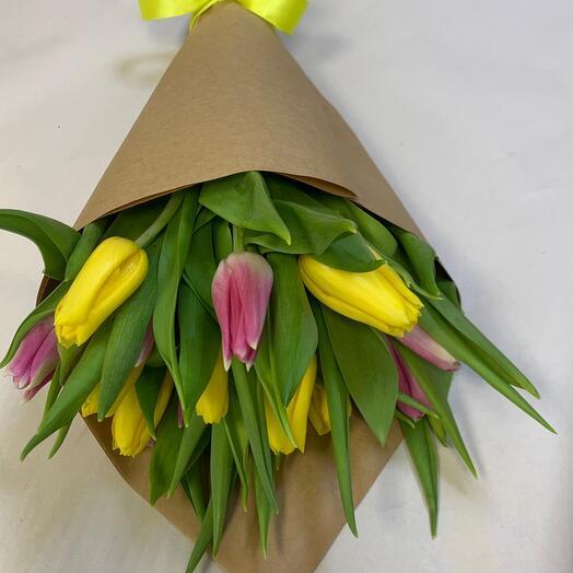 Букет Тюльпанов разноцветных