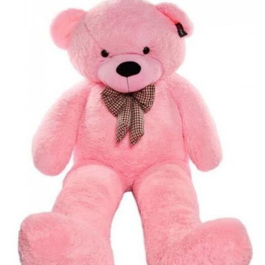 Большой розовый плюшевый мишка 200 см
