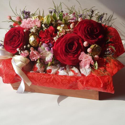 Розы/ферреро/рафаэлло