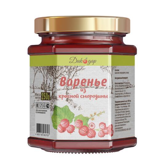 Варенье из красной смородины, 250 г