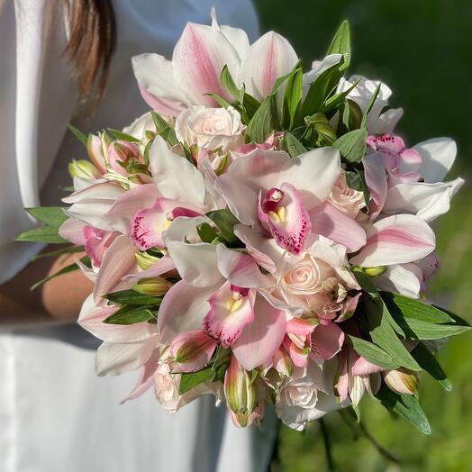 Свадебный букет «Моя орхидея»