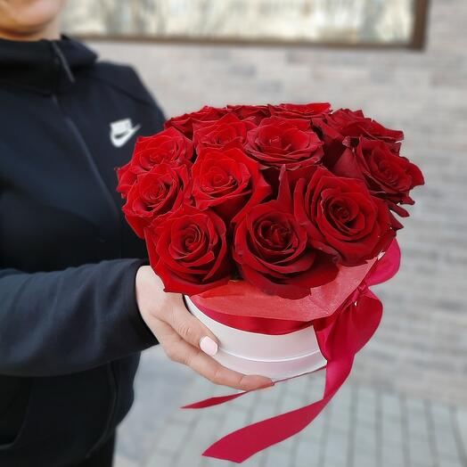 Коробка S с розой