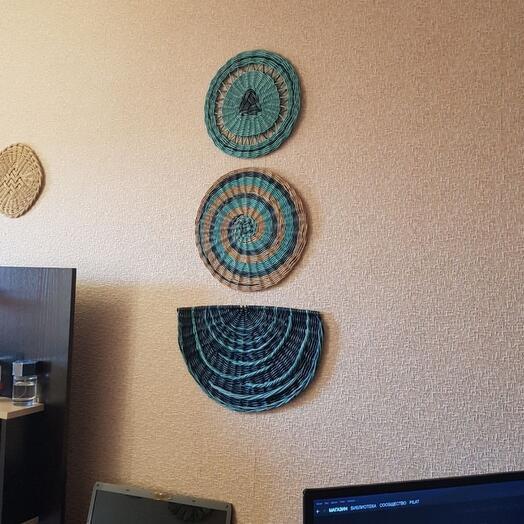 Панно. Интерьерные тарелки. Корзина на стену