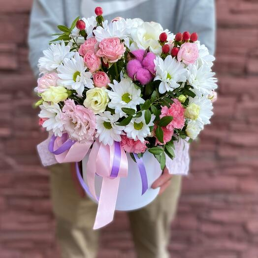 Коробка с цветами Милена