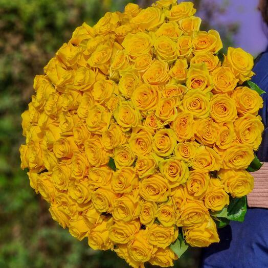Роза Эквадор 90 см 101 шт