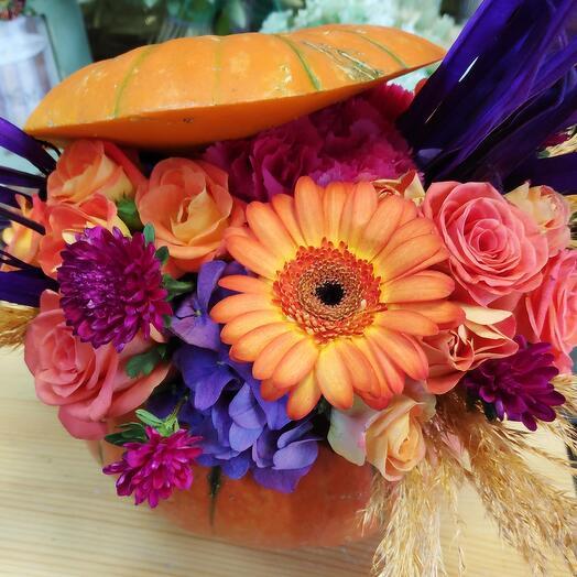 Цветы в тыкве