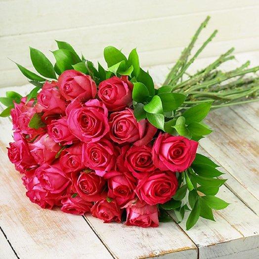 Монобукет из 25 роз CESIRE: букеты цветов на заказ Flowwow