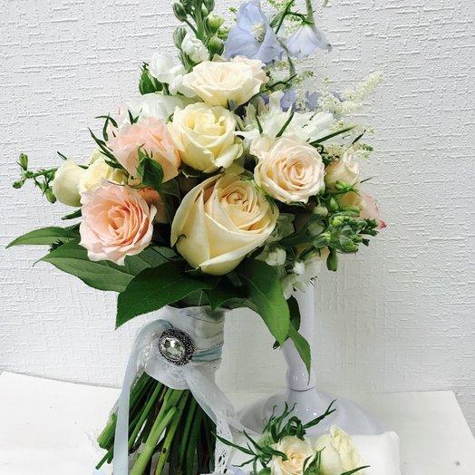 Свадебный букет Нелли: букеты цветов на заказ Flowwow
