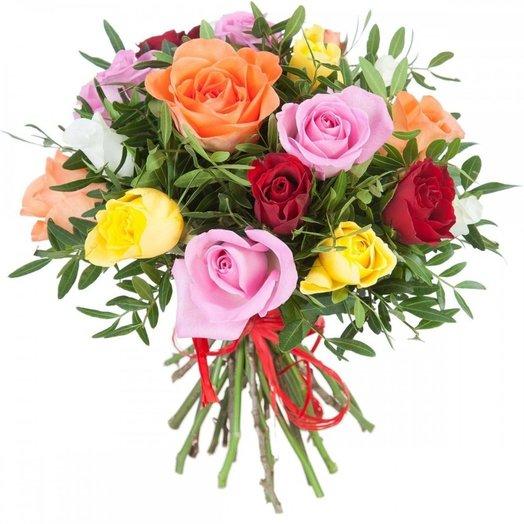 Букет роз Bouquet Rainbow: букеты цветов на заказ Flowwow