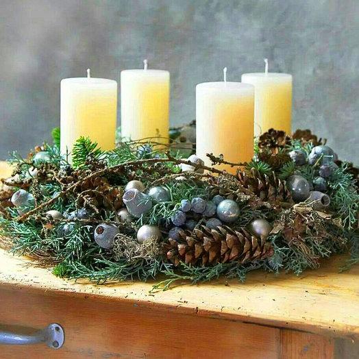 Рождественская композиция «Волшебный мир»: букеты цветов на заказ Flowwow