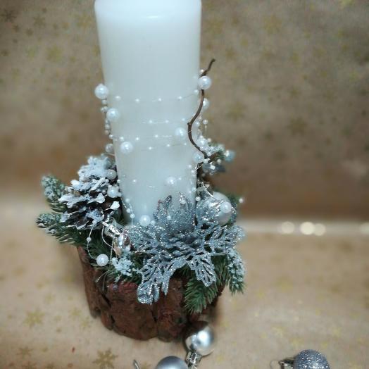 Композиция со свечей: букеты цветов на заказ Flowwow