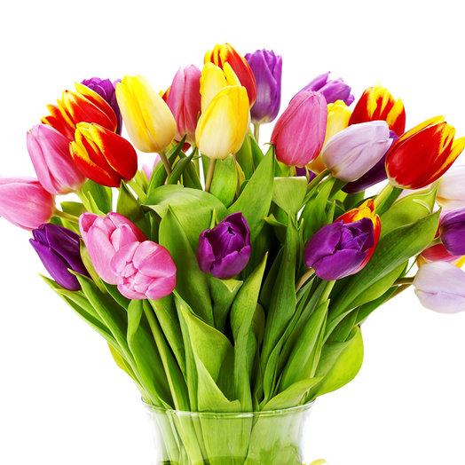 31 микс тюльпан: букеты цветов на заказ Flowwow