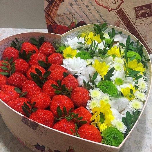 Сердце с клубникой.: букеты цветов на заказ Flowwow