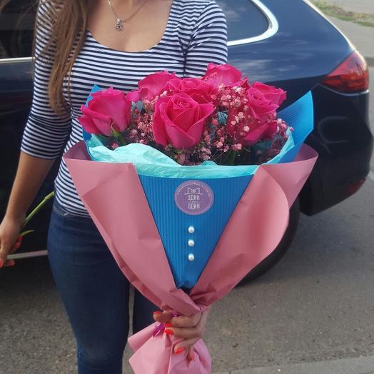 """""""Розовые розы"""": букеты цветов на заказ Flowwow"""