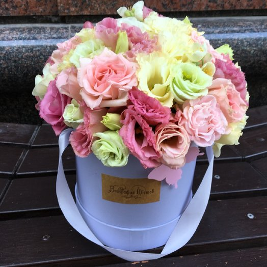 Лизиантус в коробке: букеты цветов на заказ Flowwow