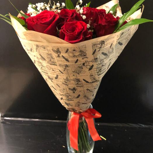 Букет из 25 красных роз: букеты цветов на заказ Flowwow