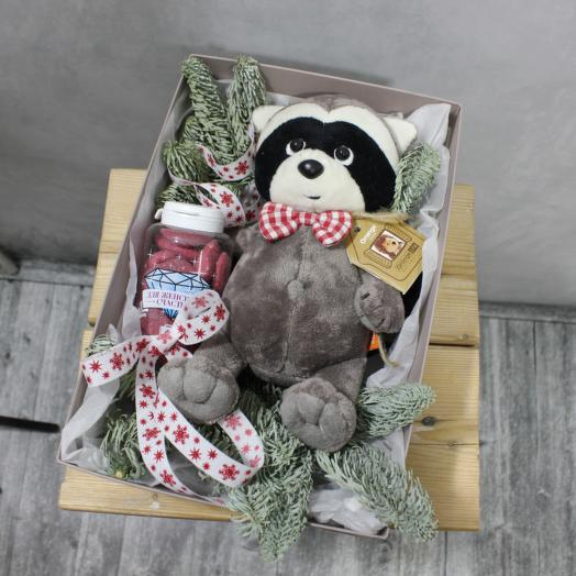 Подарок енотик: букеты цветов на заказ Flowwow