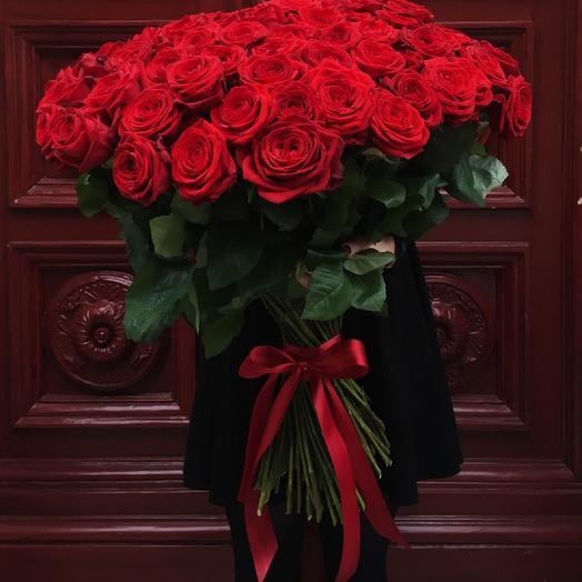 Голландская роза 80 см: букеты цветов на заказ Flowwow