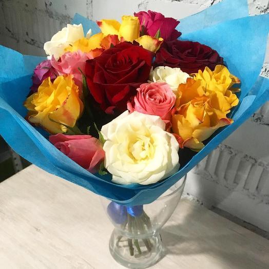 Розы микс 21: букеты цветов на заказ Flowwow
