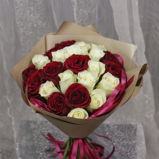 Инь и янь: букеты цветов на заказ Flowwow