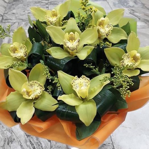 Шикарный букет из орхидей: букеты цветов на заказ Flowwow