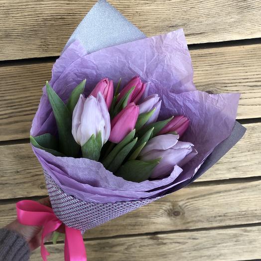 Букетик тюльпашей: букеты цветов на заказ Flowwow
