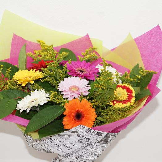 Летняя гербера: букеты цветов на заказ Flowwow