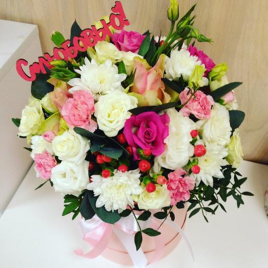 Цилиндр с цветами С любовью: букеты цветов на заказ Flowwow