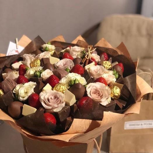 Сладкий букет «закат»: букеты цветов на заказ Flowwow