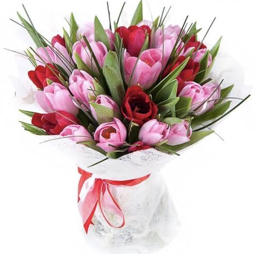 25 тюльпанов букет: букеты цветов на заказ Flowwow