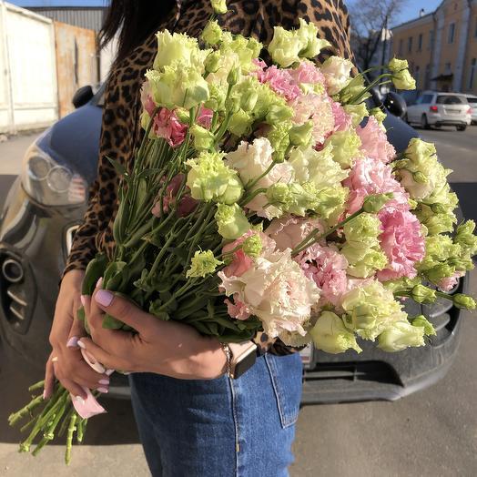 Махровая эустома: букеты цветов на заказ Flowwow