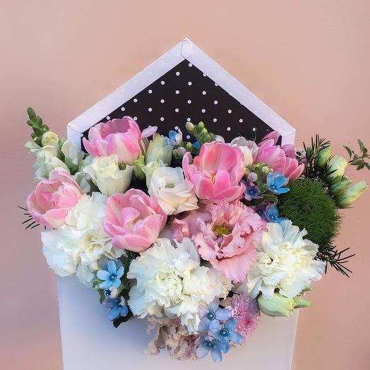Конвертик с цветами: букеты цветов на заказ Flowwow