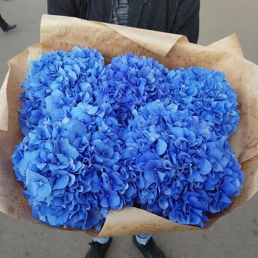 Буеет из 5 гортензий: букеты цветов на заказ Flowwow