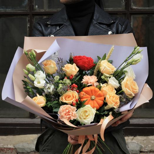 Тыквенный Теодор: букеты цветов на заказ Flowwow