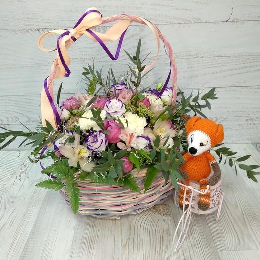 "Корзина ""нежность"": букеты цветов на заказ Flowwow"