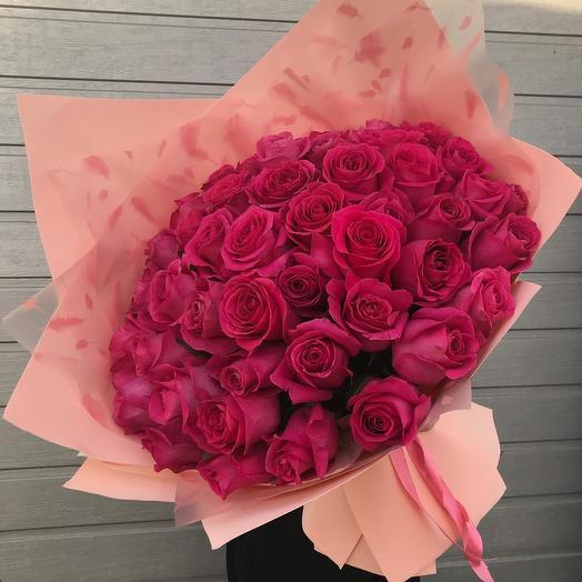 51 роза премиум. Букет гигант