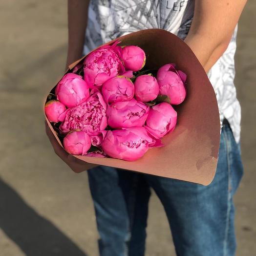 Пионы 13 шт: букеты цветов на заказ Flowwow