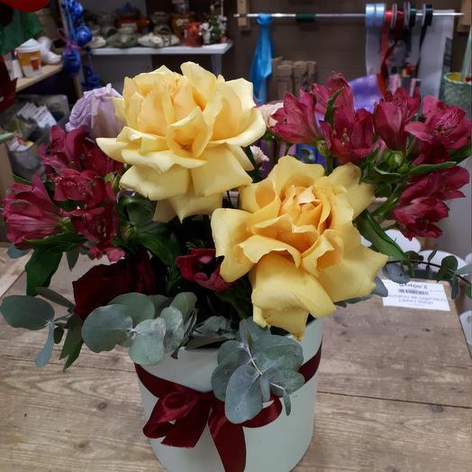 Коробка с цветами🌺: букеты цветов на заказ Flowwow