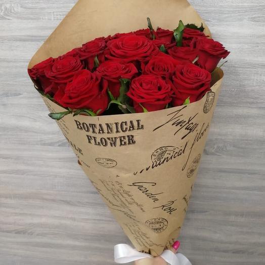 ✅ Букет роз в крафт бумаге