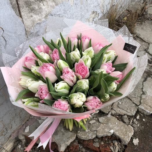 35 Пионовидных тюльпанов: букеты цветов на заказ Flowwow