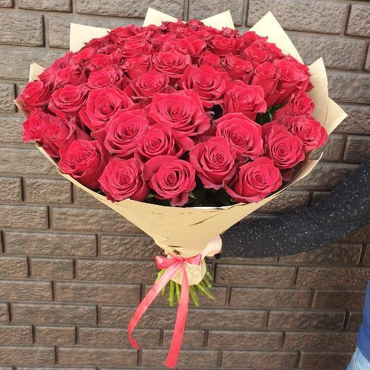 51 эквадорская роза Explorer: букеты цветов на заказ Flowwow