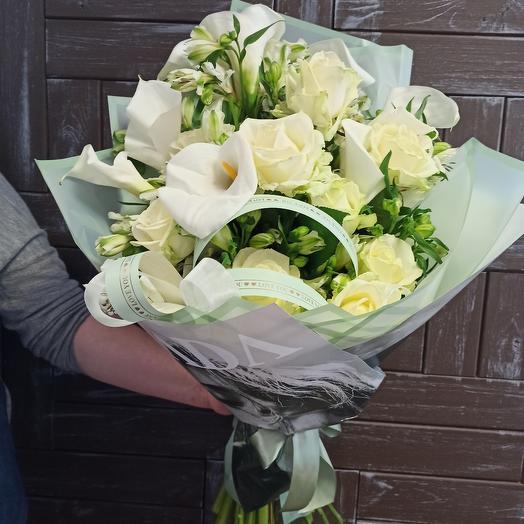 "Букет ""Белоснежная роскошь"": букеты цветов на заказ Flowwow"