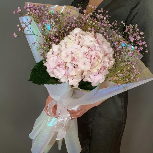 Воздушная гортензия: букеты цветов на заказ Flowwow