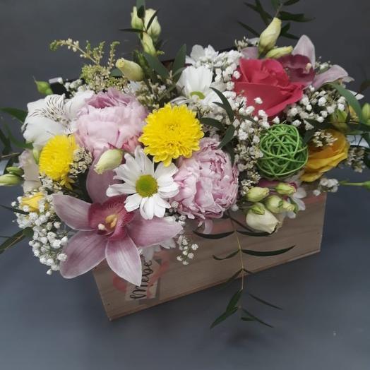 Композиция с любовью: букеты цветов на заказ Flowwow