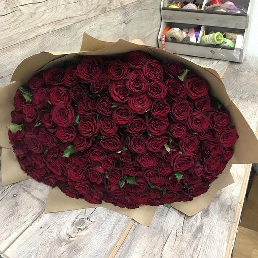 Букет из 101 высокой розы: букеты цветов на заказ Flowwow