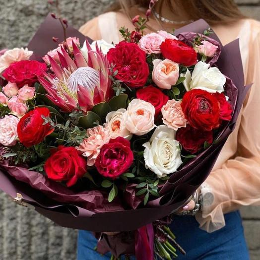 Букет цветов «Воздушный поцелуй»