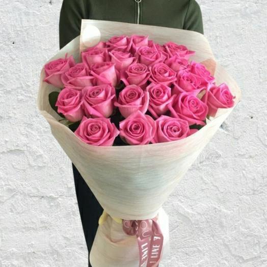 Букет из 25 роз aqua