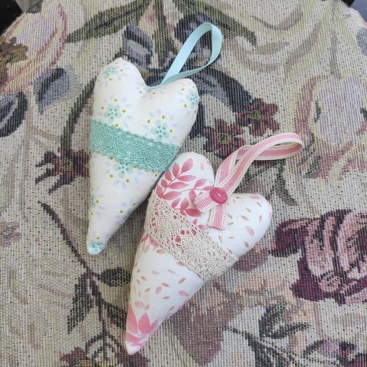 Сердечки мята-малина