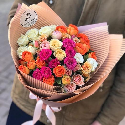 Микс кустовых роз