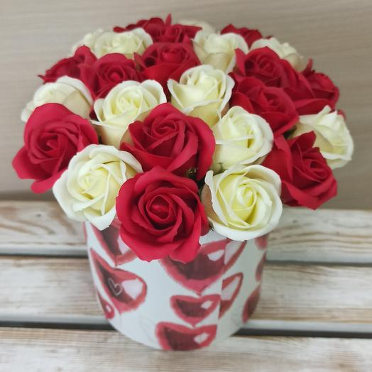 Для тебя 25 роз из мыла